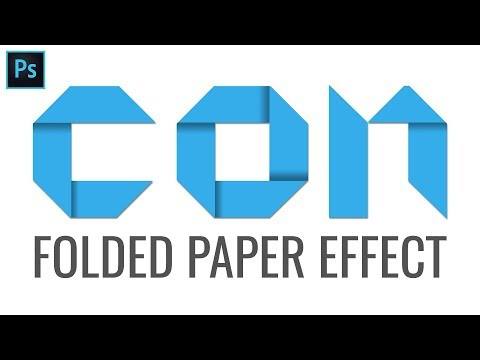 Folded Paper Text Effect - Folding Logo Typography - Photoshop Tutorial