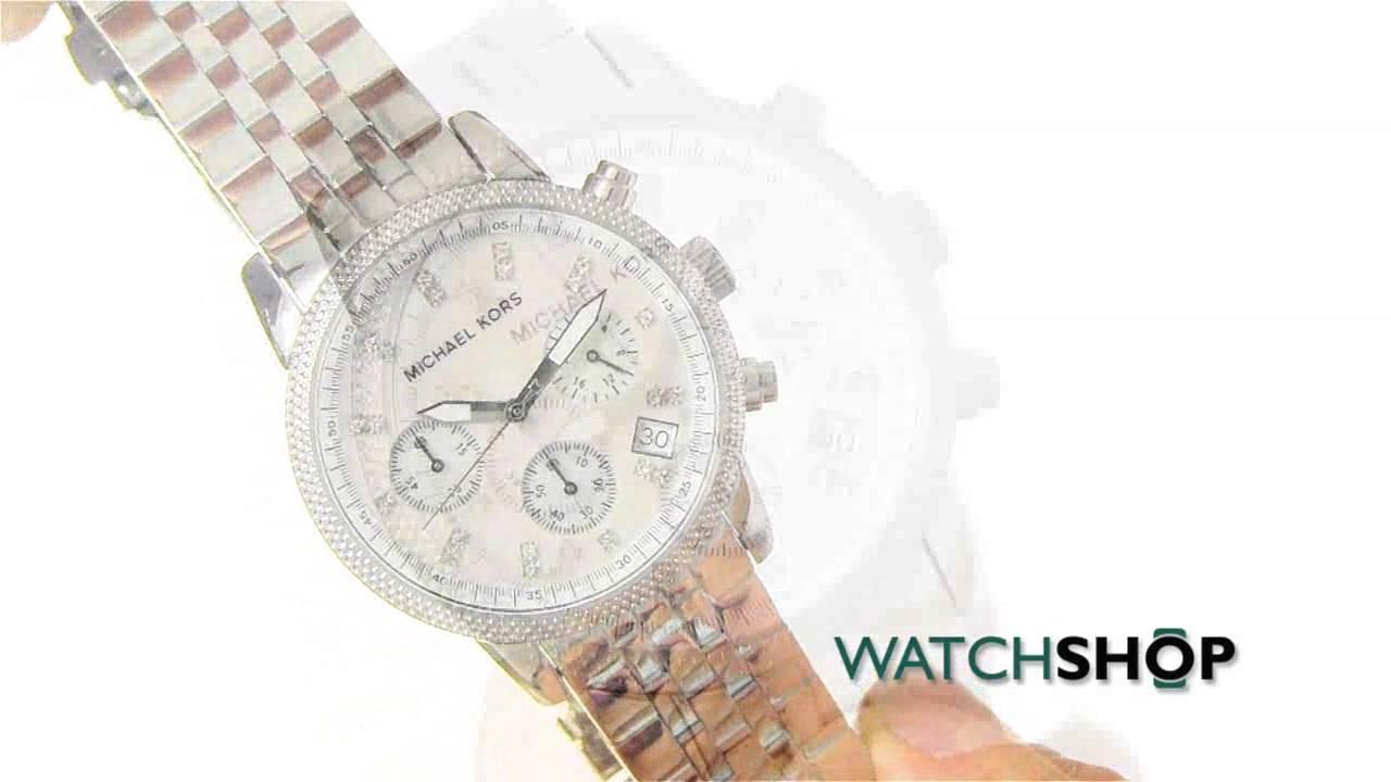 939e4c19aaea Michael Kors Ladies  Ritz Chronograph Watch (MK5020) - YouTube