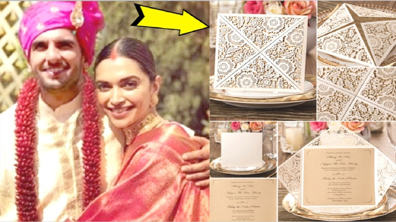 Deepika Padukone & Ranveer Singh's WEDDING Invitation Card ...