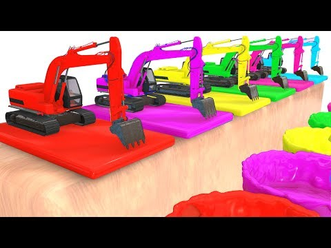 Thumbnail: Colors For Children and Fun Excavator 3D Cars Superheroes for Kids w Learning Colors