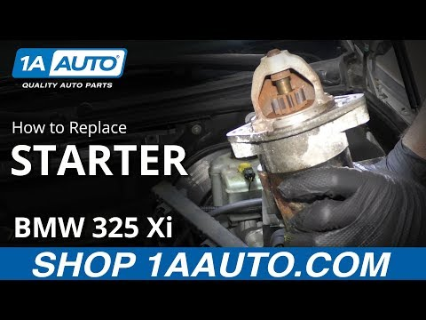 How To Replace Starter 97-06 BMW 325 Xi