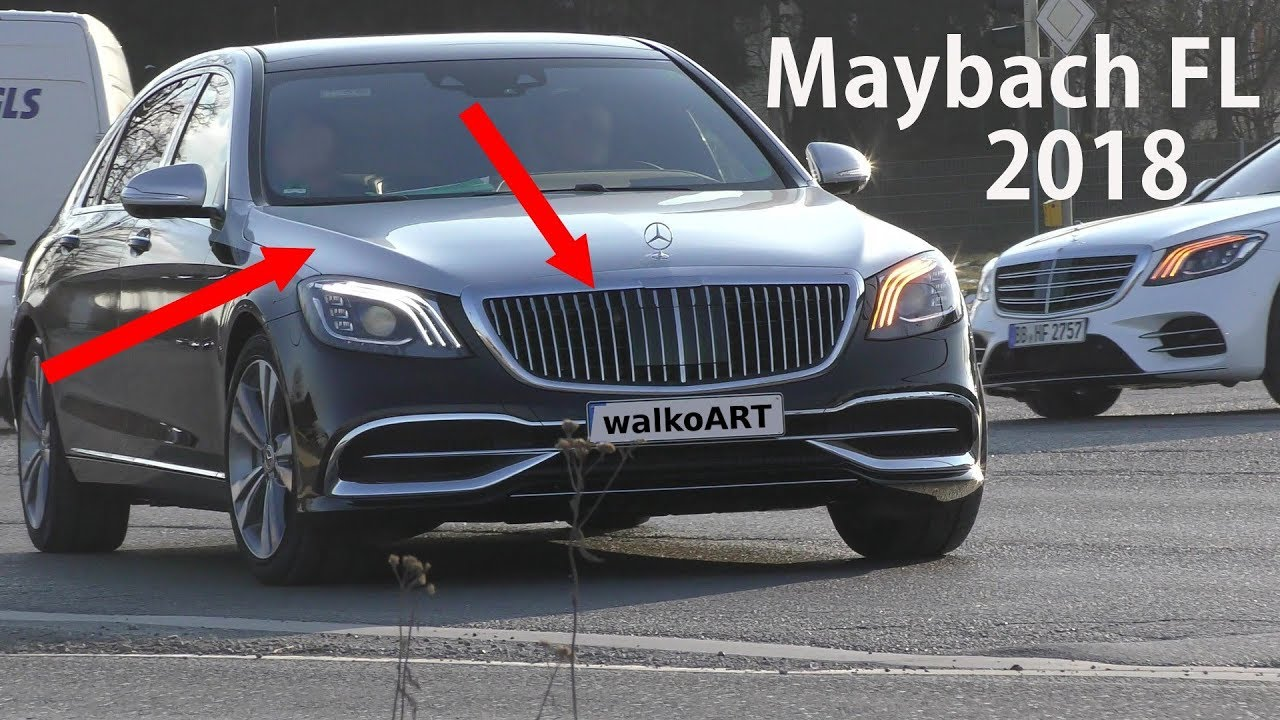 Mercedes Erlkonig Maybach X222 Fl 2018 Neuer Grill Zweifarbig New Grille Two Colors 4k Spy Video