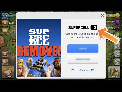 Clash of Clans - HOW TO REMOVE SUPERCELL ID