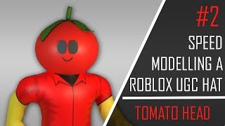 SPEED MODELLING A TOMATO HEAD FOR ROBLOX UGC #2 | ZebraRBLX