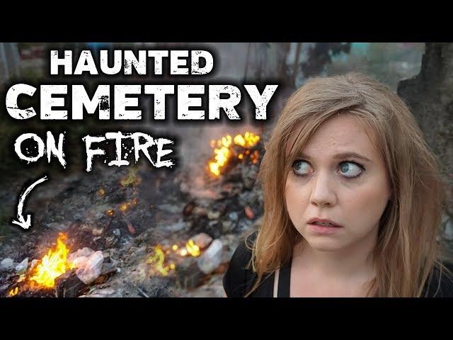 The Cemetery WAS ON FIRE!!! | Haunted Graveyard in Vietnam