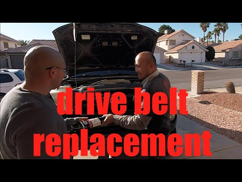 teach a man how to replace his drivebelt Toyota Tacoma 1GR-FE V6 √ Fix it Angel
