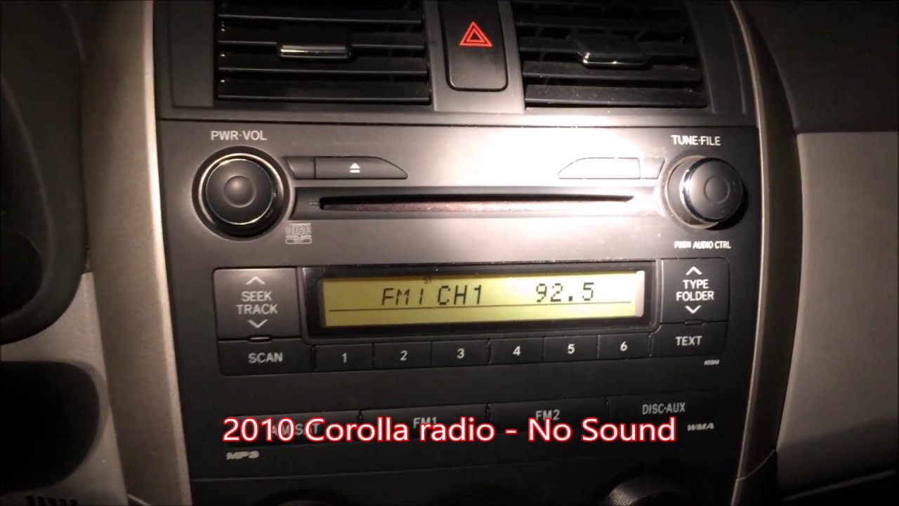 toyota corolla 2011 cd player not working