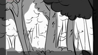Racing in the woods