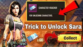 New Trick To Unlock Sara Character in PUBG Mobile | PUBG Mobile New Sara Character Event