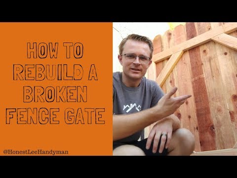How To Rebuild A Broken Fence Gate That Will Never Sag / Gate Repair The Right Way!