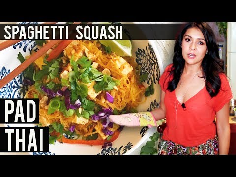PAD THAI made from SPAGHETTI SQUASH?! | Tasty Tuesday