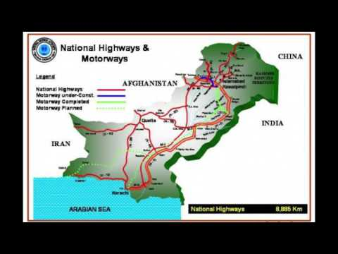National Highways & Motorways Pakistan Map