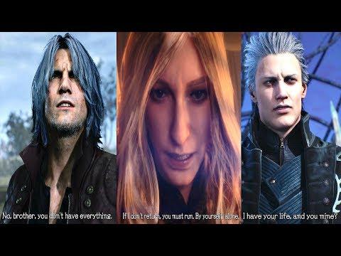 Devil May Cry 5 - Dante Tells Vergil How Their Mom Died & Why Vergil Hates Dante (DMC5 2019) thumbnail