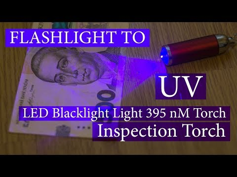 DIY Upgrade Flashlight to UV Ultra Violet LED Blacklight Light 395 nM Inspection Torch Lamp