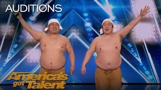 Yumbo Dump: Comedic Duo Makes Unbelievable Sounds With Their Bodies - America\'s Got Talent 2018