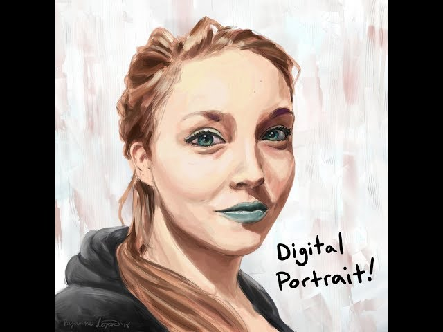 Ms. Green Lips- Digital Portrait Painting Time Lapse