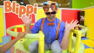 Blippi Learning For Kids At The Indoor Play Place | Educational Videos For Children