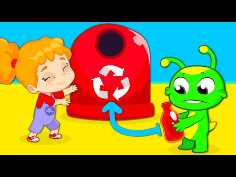 New episode | Groovy The Martian educational cartoon videos | Easy recycling for children