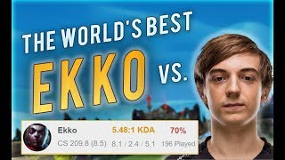 BEST EKKO WORLD vs CAPS MID | 70% Win Rate Korean Challenger EKKO