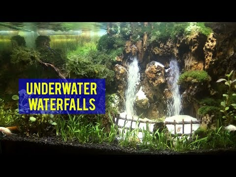 How To Make Under Water Waterfall | Double Waterfalls