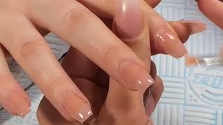 Polygel | blue sky Gum gel | nails