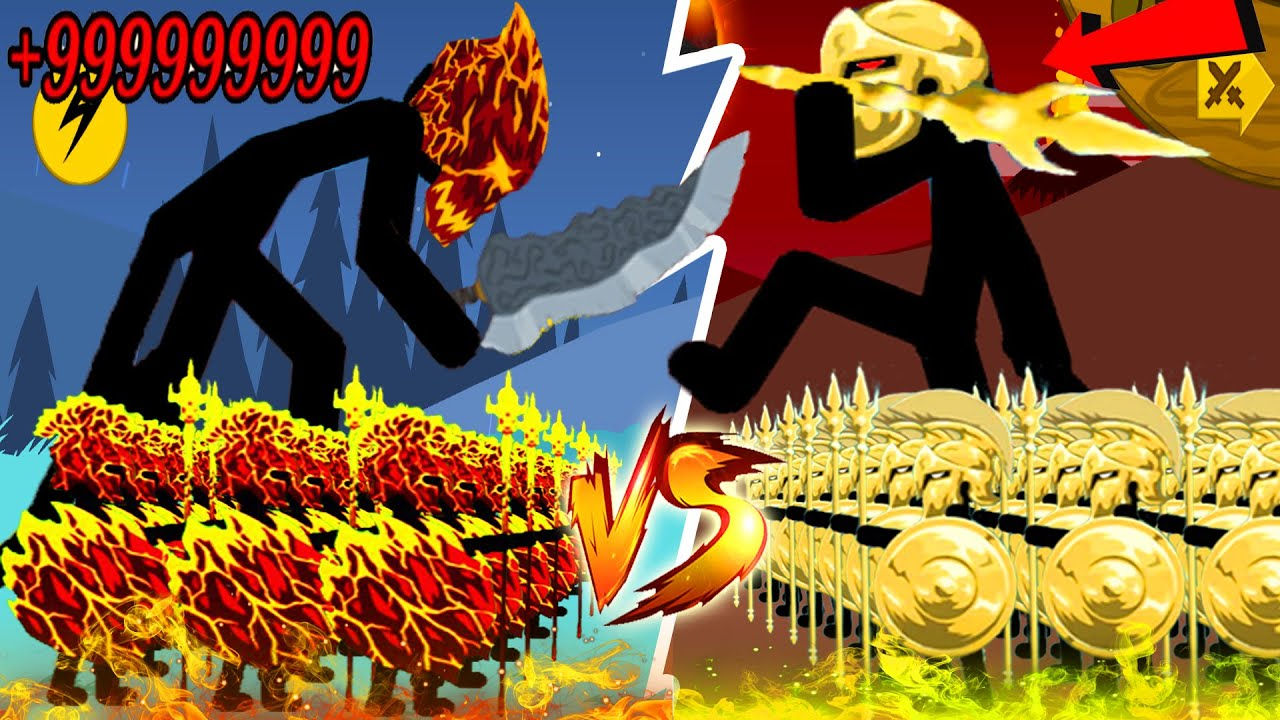 Download Army 99999 LAVA Vs 9999 Golden Spearton - Stick War Legacy Huge Updare