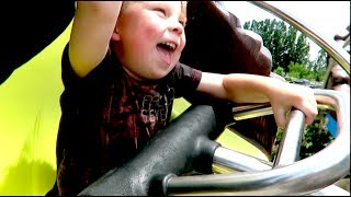 riding rollercoasters at bear world