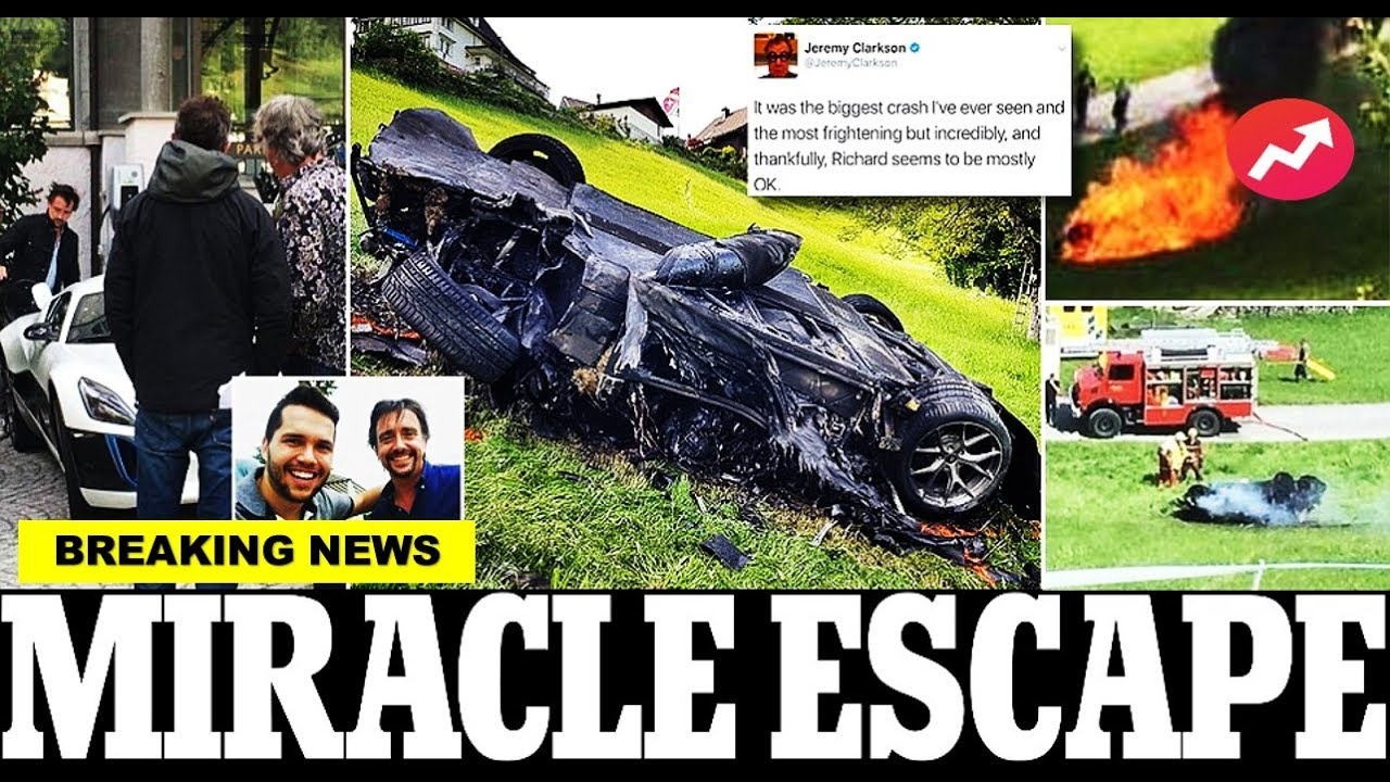 Jeremy Clarkson Accident - Richard hammond is airlifted to hospital after flipping 2 million supercar in crash