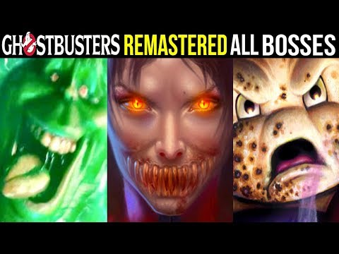 GHOSTBUSTERS: Video Game REMASTERED - ALL BOSSES / All Optional Bosses + Ending