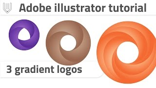 Create 3 gradient logo with one video! Adobe illustrator CC tutorial
