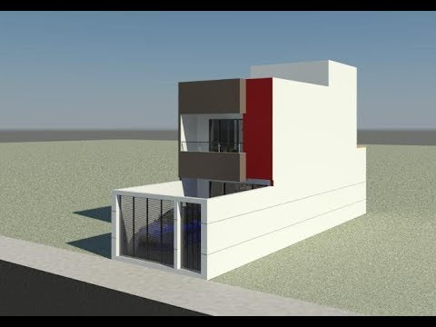 Sobrado testada 5m by vagner silva doovi for Casa moderna minimalista 6 00 m x 12 50 m 220 m2