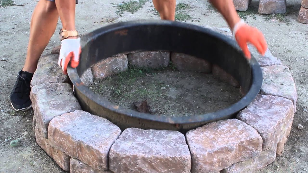 Diy fire pit youtube for Make a fire pit cheap