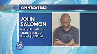 2nd Maui police officer arrested, charged for DUI