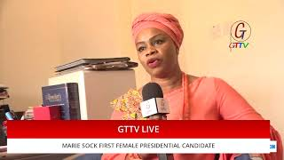 MEET MARIE SOCK, THE GAMBIA'S NEWEST AND ONLY FEMALE PRESIDENTIAL CANDIDATE