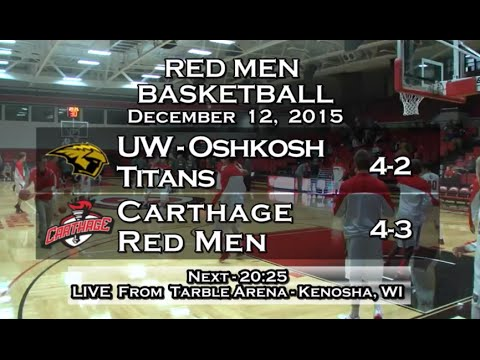 Carthage Men's Basketball vs. UW - Oshkosh 2015_12_12