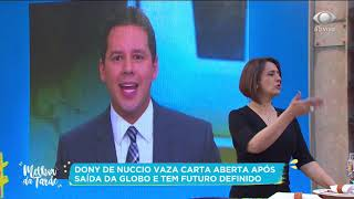 Dony de Nuccio vaza carta após saída da TV Globo