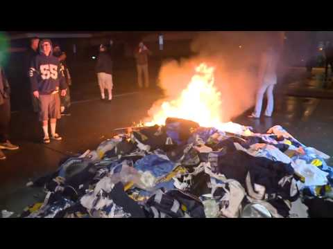 Angry Fans Burn San Diego Chargers Gear