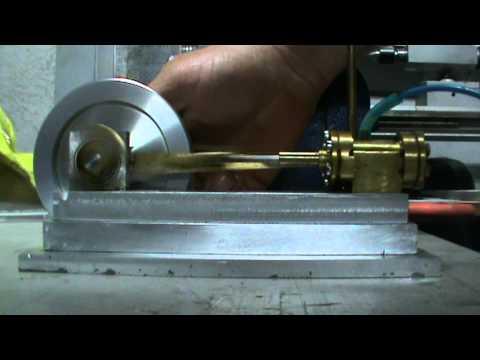 horizontal double acting slide valve steam engine