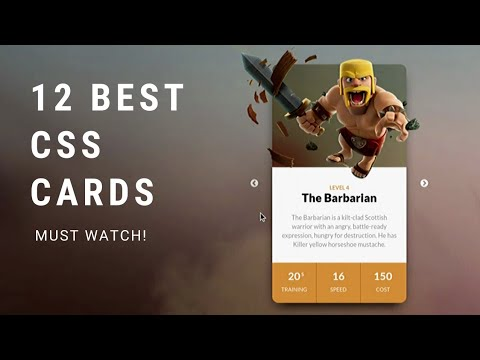 Top 12 Stunning Cards Design And Effects 2019 [HTML CSS JS]