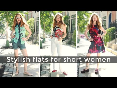 How to dress when you are short for women over 40 – how to look good in flat shoes