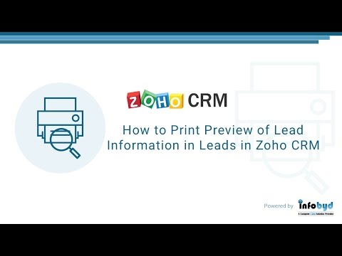 How to Print Preview of lead information in leads in Zoho CRM
