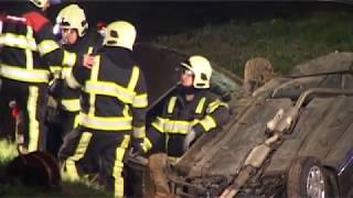 Hulpdiensten inzet bij Dodelijk Ongeval op A2 bij Holtum Limburg op 08-01-2012
