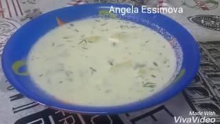 Картофельный суп со сметаной!Очень вкусный и очень легкий!