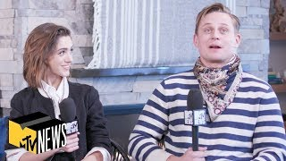 Natalia Dyer & Billy Magnussen on 'Stranger Things' & 'Velvet Buzzsaw' | MTV News | #Sundance