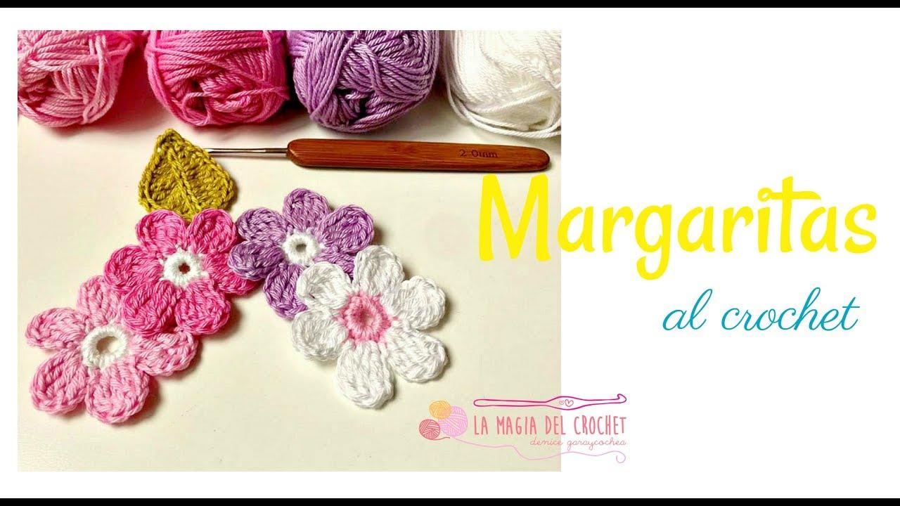 Cómo hacer una flor de 6 pétalos al crochet. Tutorial fácil - YouTube