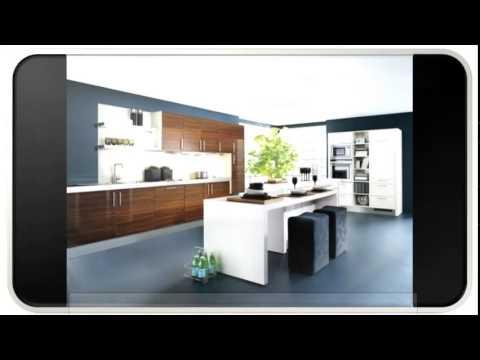 Blue Modern Walnut Kitchen Cabinets Youtube