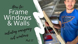 Framing our Bus Walls   School Bus Conversion | Skoolie  VIDEO