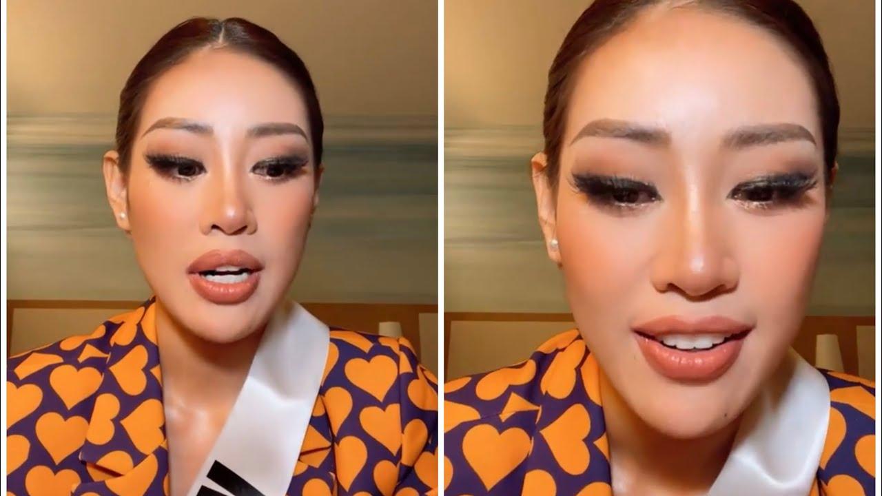 Hoa hậu Khánh Vân kể lại sự cố trước giờ thi Trình diễn trang phục dân tộc tại Miss Universe 2020