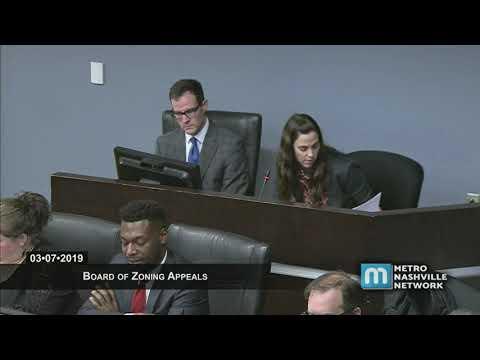 03/07/19 Zoning Appeals Board