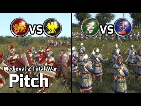 Medieval 2 Total War Online Battles #212 - 213 (1v1 Live) - Green Tea!